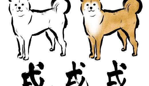 年賀状にイラストで犬を書く 手書きは簡単!