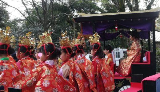 柳川さげもんひな祭り福岡イベントに参加!日吉神社おたふくから出発